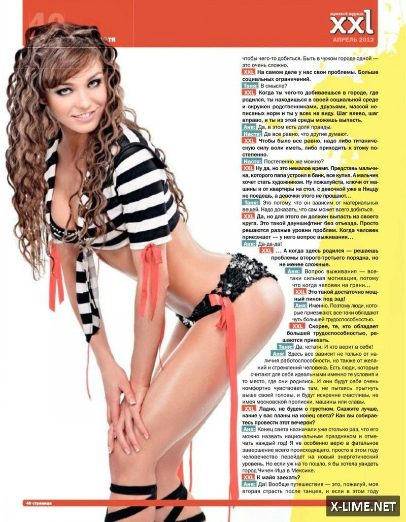 Голая Анна Кончаковская в откровенной фотосессии журнала XXL