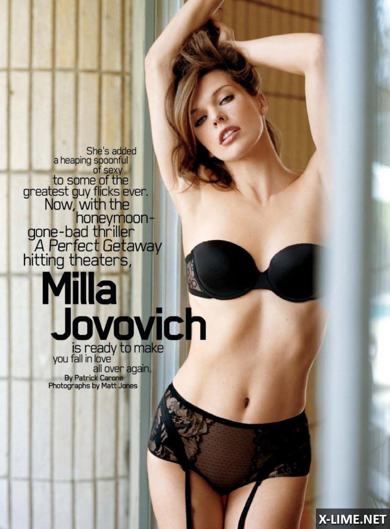 Голая Милла Йовович в эротической фотосессии MAXIM
